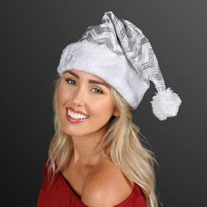 Silver Sequin Santa Hats (NON-Light Up)